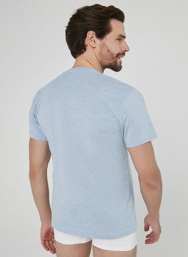Penti Beyaz Mavi Melanj Regular 2Li Tişört Renkli